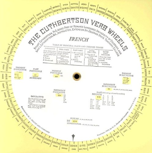 French Verb Wheel   1941 edition cover