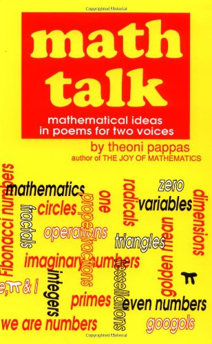 Math Talk Mathematical Ideas in Poems for Two Voices  1991 9780933174740 Front Cover