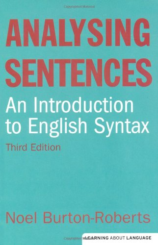 Analysing Sentences  3rd 2010 (Revised) edition cover