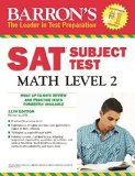 Barron's Sat Subject Test Math, Level 2  11th 2014 (Revised) 9781438003740 Front Cover