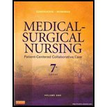 MEDICAL-SURGICAL NURSING,V.1   N/A edition cover
