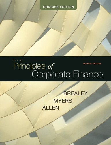 Principles of Corporate Finance, Concise  2nd 2011 9780073530741 Front Cover