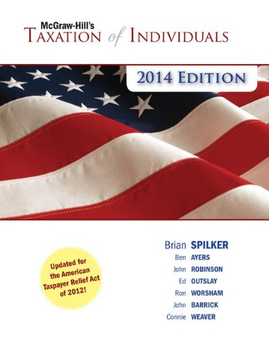 McGraw-Hill's Taxation of Individuals, 2014:   2013 edition cover