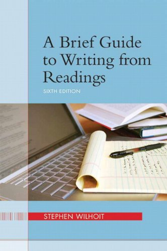 Brief Guide to Writing from Readings  6th 2012 (Revised) edition cover