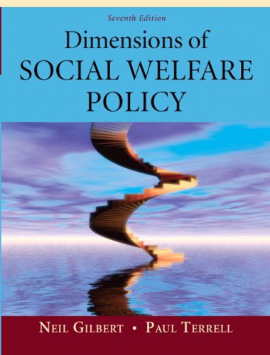 Dimensions of Social Welfare Policy  7th 2010 edition cover