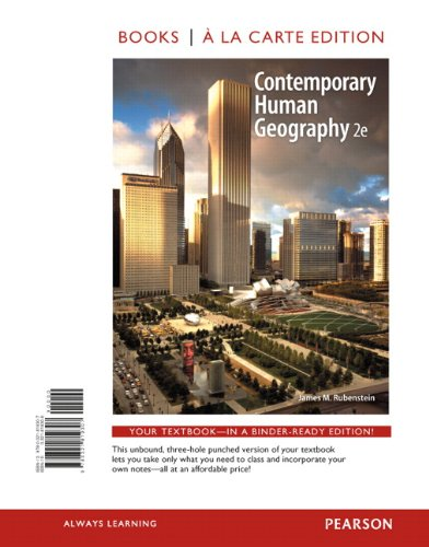 Contemporary Human Geography  2nd 2013 edition cover