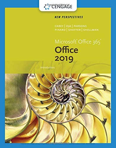 New Perspectives Microsoft Office 365 & Office 2019 Introductory:   2019 9780357025741 Front Cover