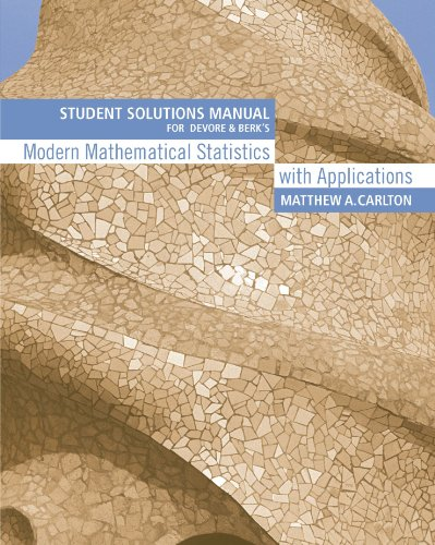 Modern Mathematical Statistics with Applications   2007 edition cover