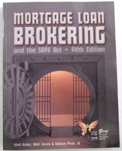 MORTGAGE LOAN BROKERAGE N/A edition cover