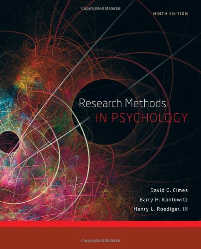 Research Methods in Psychology  9th 2012 edition cover
