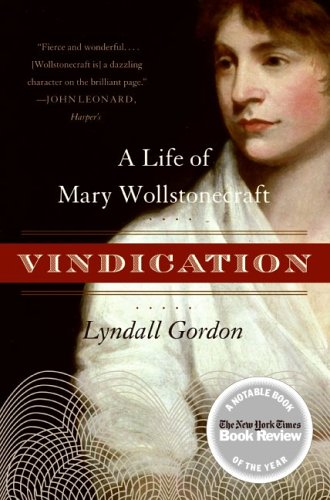 Vindication A Life of Mary Wollstonecraft  2006 edition cover