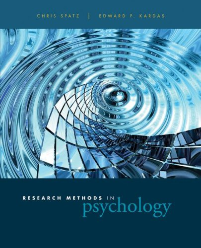 Research Methods in Psychology Ideas, Techniques, and Reports  2008 edition cover