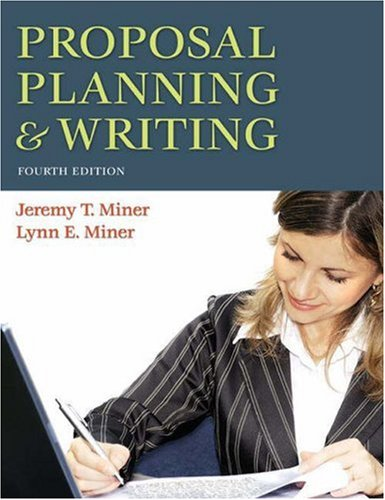 Proposal Planning and Writing  4th 2008 edition cover