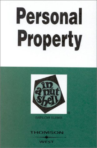 Personal Property in a Nutshell  3rd 2003 (Revised) edition cover