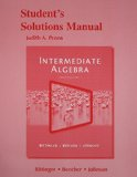 Student's Solutions Manual for Intermediate Algebra  12th 2015 edition cover