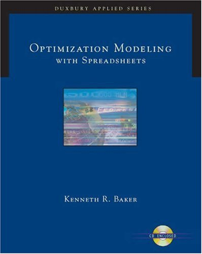 Optimizing Modeling with Spreadsheets   2006 9780534494742 Front Cover