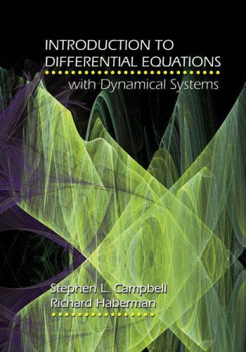 Introduction to Differential Equations with Dynamical Systems   2008 edition cover