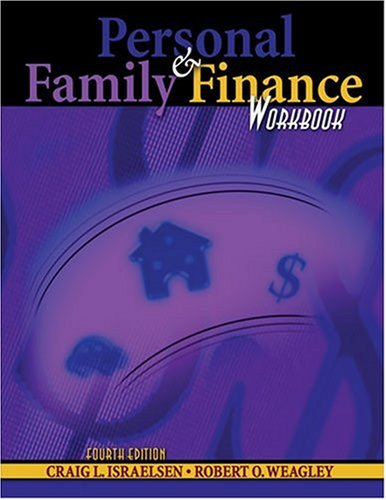 Personal and Family Finance Workbook 4th 2006 (Revised) 9780757525742 Front Cover