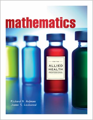 Mathematics with Allied Health Applications   2013 edition cover