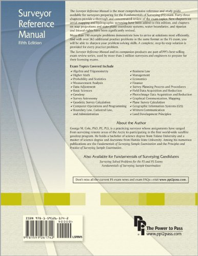 Surveyor Reference Manual  5th 2009 edition cover