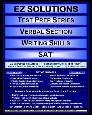 EZ Solutions: Test Prep Series: Verbal Section: Writing Skills : Sat  2011 edition cover