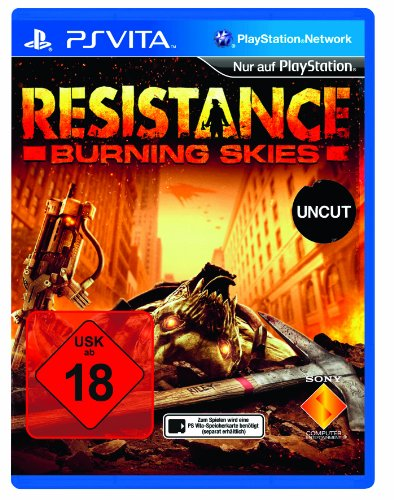 RESISTANCE PSV BURNING SKIES PlayStation Vita artwork
