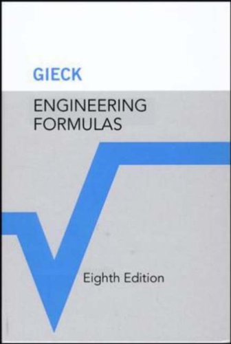 Engineering Formulas  8th 2006 (Revised) edition cover
