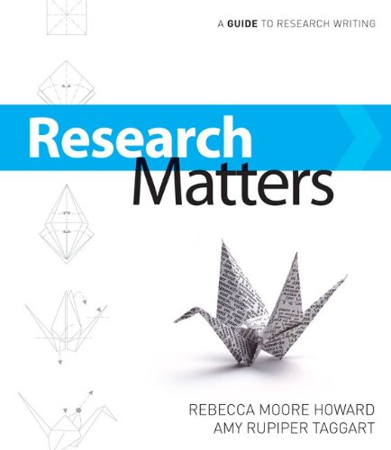 Research Matters   2011 9780073383743 Front Cover