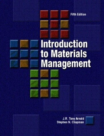 Introduction to Materials Management  5th 2004 (Revised) edition cover