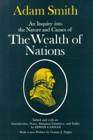 Inquiry into the Nature and Causes of the Wealth of Nations  Facsimile edition cover