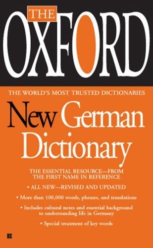 Oxford New German Dictionary German-English/English-German, Deutsch-Englisch/Englisch-Deutsch  2008 edition cover