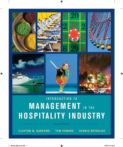 Introduction to Management in the Hospitality Industry  10th 2012 edition cover