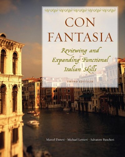 Con Fantasia Reviewing and Expanding Functional Italian Skills 3rd 2009 9780470427743 Front Cover