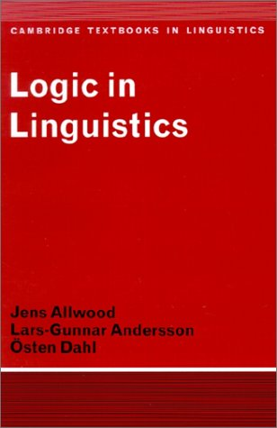 Logic in Linguistics   1977 9780521291743 Front Cover