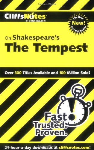 CliffsNotes on Shakespeare's the Tempest   2001 edition cover
