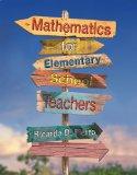 Mathematics for Elementary School Teachers   2013 edition cover