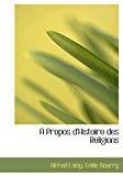 Propos D'Histoire des Religions N/A edition cover