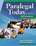 Paralegal Today: The Essentials  2016 9781305508743 Front Cover