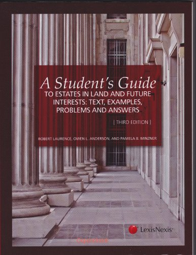 STUDENT'S GDE.TO ESTATES IN LA N/A edition cover