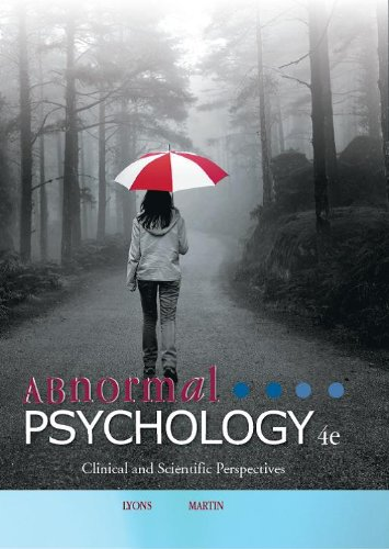 Abnormal Psychology Clinical and Scientific Perspectives 4th 2011 edition cover