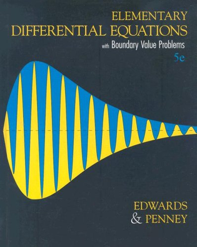 Elementary Diffential Equations with Boundary Value Problems  5th 2004 edition cover