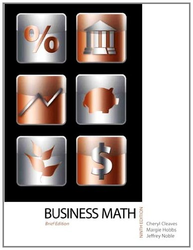 Business Mathematics  9th 2012 9780132111744 Front Cover