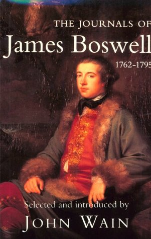Journals of James Boswell, 1762-1795  N/A 9780300060744 Front Cover