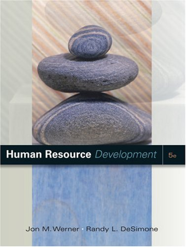Human Resource Development  5th 2009 edition cover