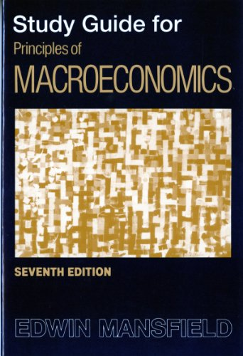 Principles of Macroeconomics  7th (Student Manual, Study Guide, etc.) edition cover