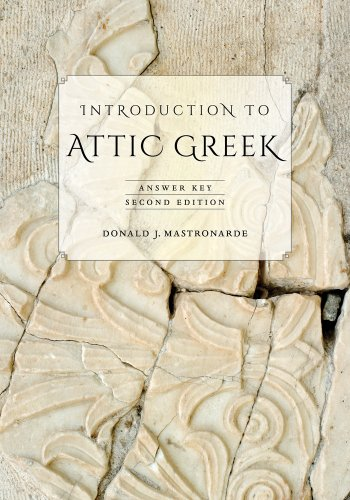 Introduction to Attic Greek Answer Key 2nd 2013 edition cover