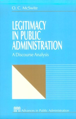 Legitimacy in Public Administration A Discourse Analysis  1997 edition cover