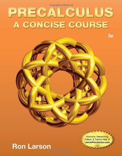 Precalculus: A Concise Course  2013 edition cover