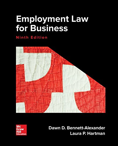 EMPLOYMENT LAW FOR BUSINESS (LL)        N/A 9781260031744 Front Cover