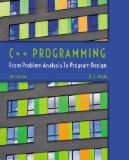 C++ Programming: From Problem Analysis to Program Design  2014 edition cover
